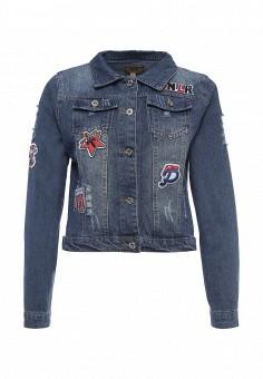 Куртка джинсовая, QED London, цвет: синий. Артикул: QE001EWROL75. Женская одежда / Верхняя одежда / Джинсовые куртки