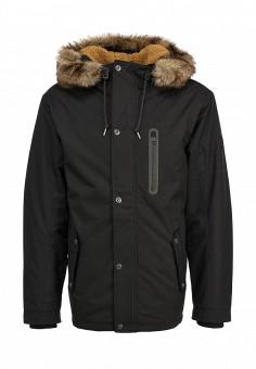 Куртка утепленная, Quiksilver, цвет: черный. Артикул: QU192EMFVR98. Мужская одежда / Верхняя одежда