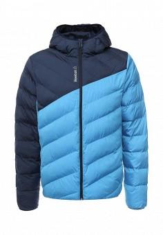 Куртка утепленная, Reebok, цвет: голубой. Артикул: RE160EMNSA95. Мужская одежда / Верхняя одежда