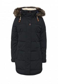 Куртка утепленная, Roxy, цвет: черный. Артикул: RO165EWKCF38. Женская одежда / Верхняя одежда / Пуховики и зимние куртки