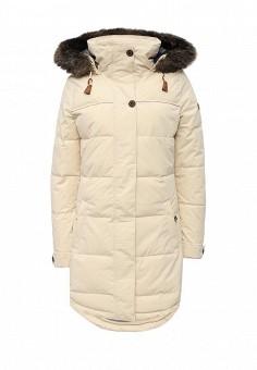 Куртка утепленная, Roxy, цвет: бежевый. Артикул: RO165EWKCF40. Женская одежда / Верхняя одежда / Пуховики и зимние куртки