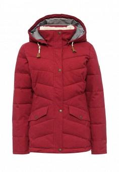 Куртка утепленная, Roxy, цвет: бордовый. Артикул: RO165EWKCF58. Женская одежда / Верхняя одежда / Пуховики и зимние куртки