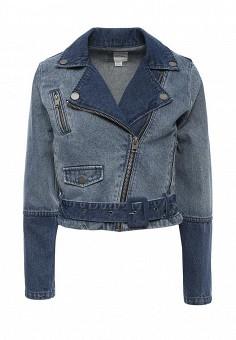 Куртка джинсовая, Roxy, цвет: синий. Артикул: RO165EWPFP77. Женская одежда / Верхняя одежда / Джинсовые куртки