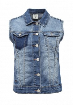 Жилет джинсовый, Sela, цвет: синий. Артикул: SE001EWQXH39. Женская одежда / Верхняя одежда / Жилеты / Джинсовые жилеты