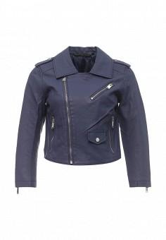 Куртка кожаная, Silvian Heach, цвет: синий. Артикул: SI386EWRHX36. Женская одежда / Верхняя одежда / Демисезонные куртки