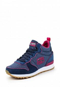 Кроссовки, Skechers, цвет: синий. Артикул: SK261AWQHH36. Женская обувь / Кроссовки и кеды