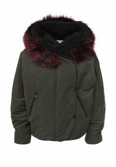 Пуховик, Soia & Kyo, цвет: хаки. Артикул: SO036EWLZL49. Женская одежда / Верхняя одежда / Пуховики и зимние куртки