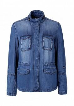 Куртка джинсовая, s.Oliver, цвет: синий. Артикул: SO917EWQKG39. Женская одежда / Верхняя одежда / Джинсовые куртки