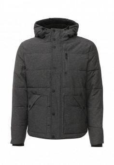 Куртка утепленная, Springfield, цвет: серый. Артикул: SP014EMKMD76. Мужская одежда / Верхняя одежда