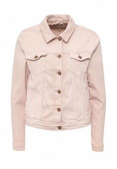 Куртка джинсовая, Springfield, цвет: розовый. Артикул: SP014EWRKX92. Женская одежда / Тренды сезона / Летний деним / Джинсовые куртки