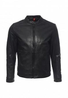 Куртка кожаная, Strellson, цвет: черный. Артикул: ST004EMOPK38. Мужская одежда / Верхняя одежда / Кожаные куртки