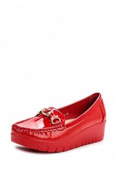 Мокасины, Stephan, цвет: красный. Артикул: ST031AWLQR69. Женская обувь / Мокасины и топсайдеры