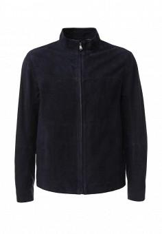Куртка кожаная, Ted Baker London, цвет: синий. Артикул: TE019EMKJX21. Мужская одежда / Верхняя одежда / Кожаные куртки