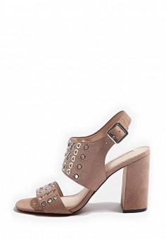 Босоножки, Topshop, цвет: бежевый. Артикул: TO029AWRUN51. Женская обувь / Босоножки