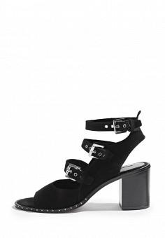 Босоножки, Topshop, цвет: черный. Артикул: TO029AWRUN55. Женская обувь / Босоножки