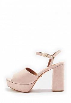 Босоножки, Topshop, цвет: розовый. Артикул: TO029AWTJR57. Женская обувь / Босоножки
