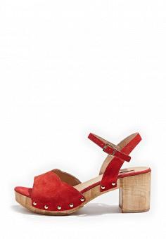 Босоножки, Topshop, цвет: красный. Артикул: TO029AWTJR61. Женская обувь / Босоножки
