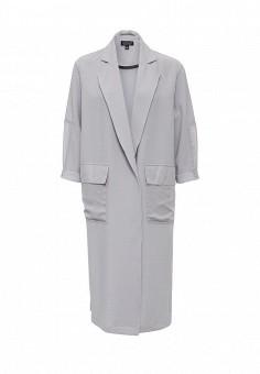 Плащ, Topshop, цвет: серый. Артикул: TO029EWLSM74. Женская одежда / Верхняя одежда / Плащи и тренчкоты