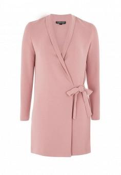 Жакет, Topshop, цвет: розовый. Артикул: TO029EWQJG37. Женская одежда / Платья и сарафаны / Повседневные платья / Платья с запахом
