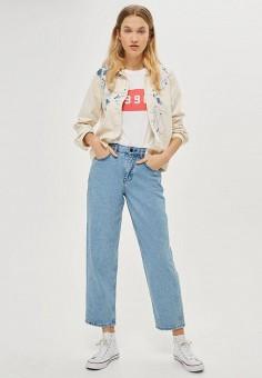 Куртка джинсовая, Topshop, цвет: белый. Артикул: TO029EWTQZ14. Женская одежда / Тренды сезона / Летний деним / Джинсовые куртки