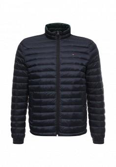 Пуховик, Tommy Hilfiger, цвет: синий. Артикул: TO263EMTPM75. Мужская одежда / Верхняя одежда / Пуховики и зимние куртки