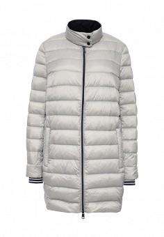 Пуховик, Tommy Hilfiger, цвет: серый. Артикул: TO263EWJCT16. Женская одежда / Верхняя одежда / Пуховики и зимние куртки