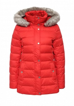 Пуховик, Tommy Hilfiger, цвет: красный. Артикул: TO263EWKBX29. Женская одежда