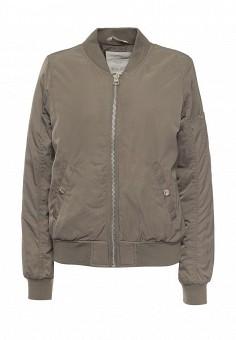 Куртка утепленная, Tom Tailor Denim, цвет: хаки. Артикул: TO793EWPZF67. Женская одежда / Верхняя одежда / Демисезонные куртки