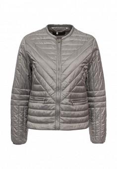 Куртка утепленная, Trussardi Jeans, цвет: серый. Артикул: TR016EWOOP60. Женская одежда