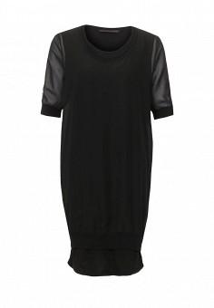 Платье, Trussardi Jeans, цвет: черный. Артикул: TR016EWOOP68. Женская одежда