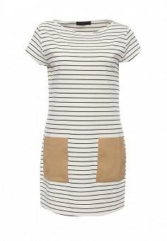 Платье, Trussardi Jeans, цвет: белый. Артикул: TR016EWOOP85. Женская одежда