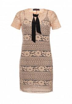 Платье, Trussardi Jeans, цвет: бежевый. Артикул: TR016EWOOQ07. Женская одежда