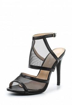 Босоножки, Tulipano, цвет: черный. Артикул: TU005AWSSH82. Женская обувь / Босоножки