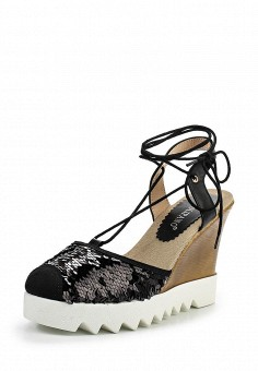 Босоножки, Tulipano, цвет: черный. Артикул: TU005AWSSH95. Женская обувь / Босоножки
