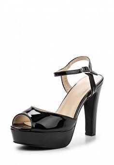 Босоножки, Tulipano, цвет: черный. Артикул: TU005AWSSI33. Женская обувь / Босоножки