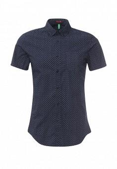 Рубашка, United Colors of Benetton, цвет: синий. Артикул: UN012EMRGR94. Мужская одежда / Рубашки