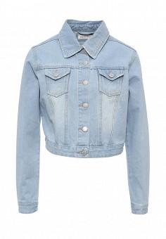 Куртка джинсовая, Urban Bliss, цвет: голубой. Артикул: UR007EWSQO36. Женская одежда / Тренды сезона / Летний деним / Джинсовые куртки