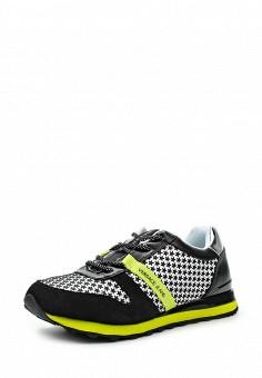 Кроссовки, Versace Jeans, цвет: черно-белый. Артикул: VE006AWOLS26. Премиум / Обувь / Кроссовки и кеды / Кроссовки