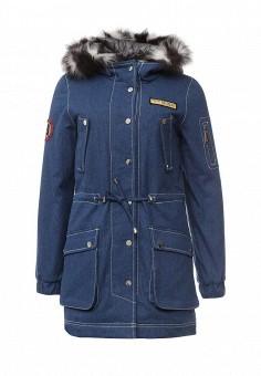Парка, V&Florence, цвет: синий. Артикул: VF001EWLUX54. Женская одежда / Верхняя одежда / Парки