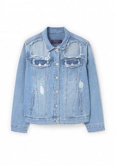 Куртка джинсовая, Violeta by Mango, цвет: голубой. Артикул: VI005EWRAC38. Женская одежда / Верхняя одежда / Джинсовые куртки