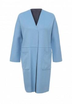 Пальто, Weekend Max Mara, цвет: голубой, синий. Артикул: WE017EWORB47. Премиум / Одежда / Верхняя одежда / Пальто