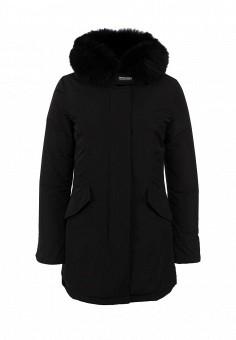 Пуховик, Woolrich, цвет: черный. Артикул: WO256EWCNC51. Женская одежда / Верхняя одежда