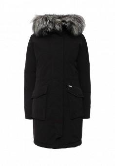 Пуховик, Woolrich, цвет: черный. Артикул: WO256EWKWT38. Женская одежда / Верхняя одежда
