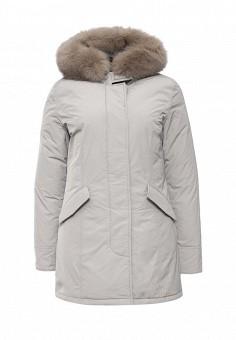 Пуховик, Woolrich, цвет: серый. Артикул: WO256EWKWT49. Женская одежда / Верхняя одежда