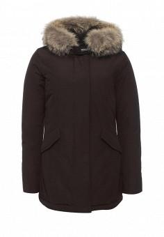 Пуховик, Woolrich, цвет: коричневый. Артикул: WO256EWKWT57. Женская одежда / Верхняя одежда
