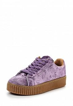 Кеды, WS Shoes, цвет: фиолетовый. Артикул: WS002AWRSR04. Женская обувь / Кроссовки и кеды