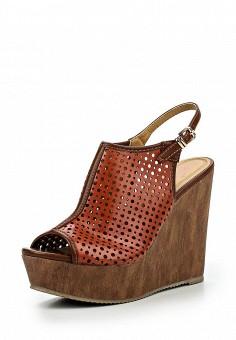 Босоножки, You Young Coveri, цвет: коричневый. Артикул: YO008AWQEK74. Женская обувь / Босоножки