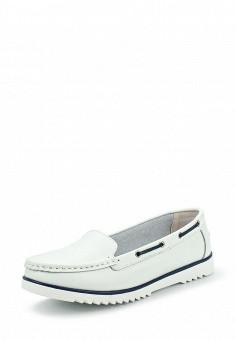 Мокасины, Zenden, цвет: белый. Артикул: ZE007AWPMA62. Женская обувь / Мокасины и топсайдеры