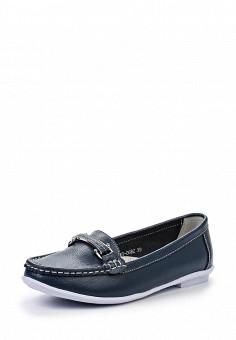 Мокасины, Zenden Comfort, цвет: синий. Артикул: ZE011AWHGN29. Женская обувь / Мокасины и топсайдеры