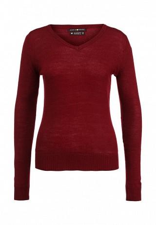 Бордовый пуловер доставка